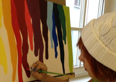 Junge Künstler – Acrylbild für Jugendliche