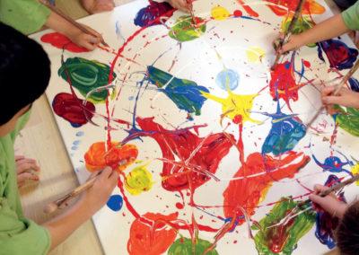 Kleine Malerwerkstatt – malen in der Gruppe